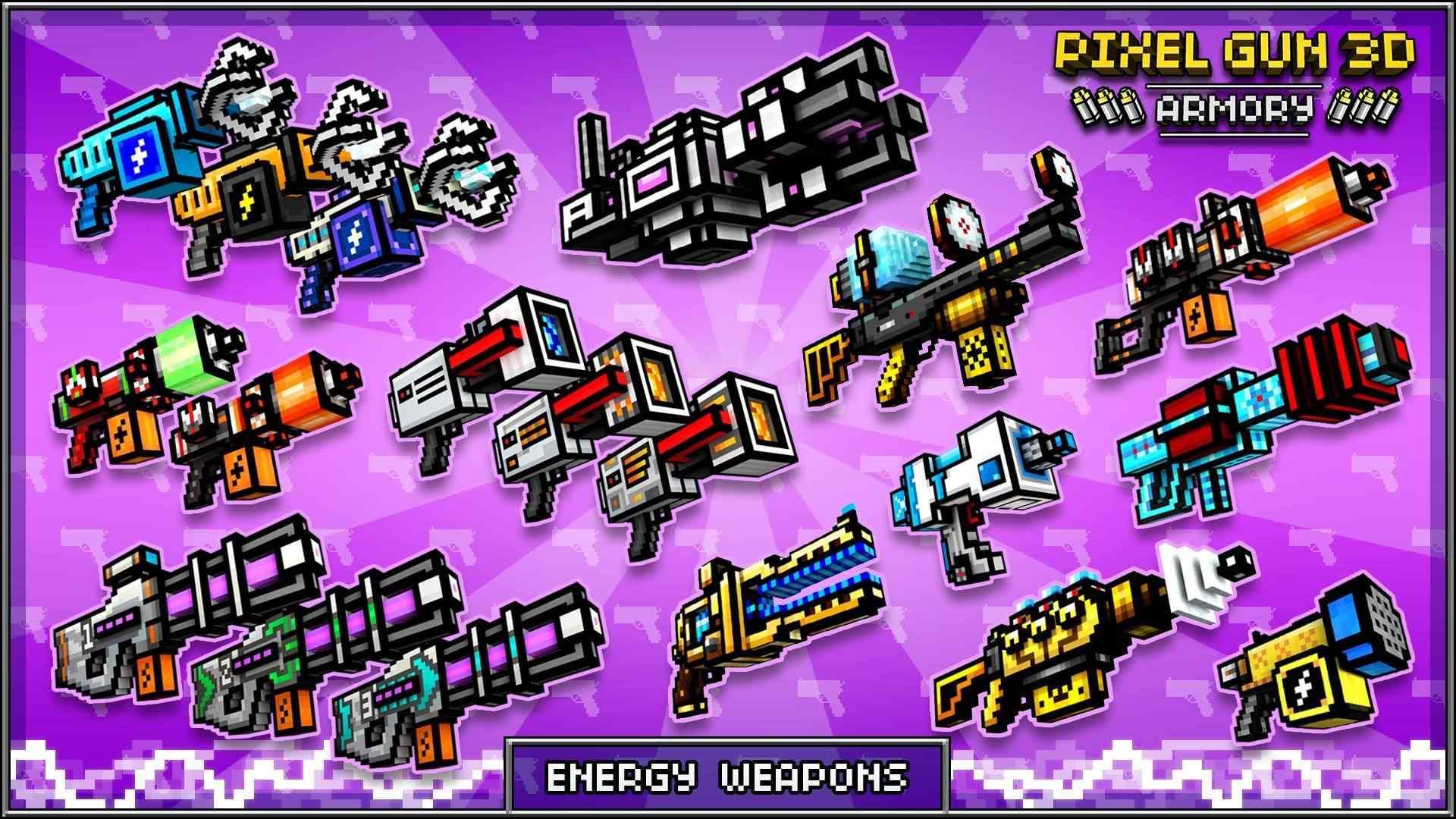 Pixel Gun 3D: Weaponry Statistics